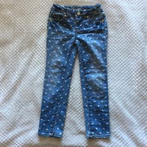🌵Cherokee Heart Sparkle Skinny Jeans Sz 5